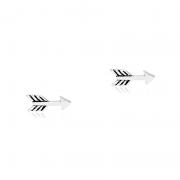 Brinco Flecha 1cm Em Prata 925