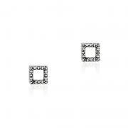 Brinco Quadrado Vazado 5mm Em Prata 925
