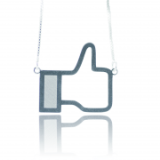 Colar Facebook Em Prata 925