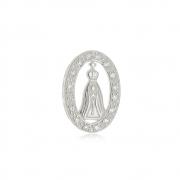 Pingente Nossa Senhora Vll com Zircônias Em Prata 925