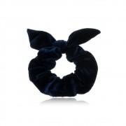 Elástico de Cabelo Scrunchie  Azul Camurça