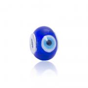 Murano Olho Grego Azul Em Prata 925