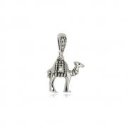 Pingente Camelo com Zircônias  Em Prata 925