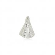 Pingente Nossa Senhora Mini com Zircônias  Em Prata 925