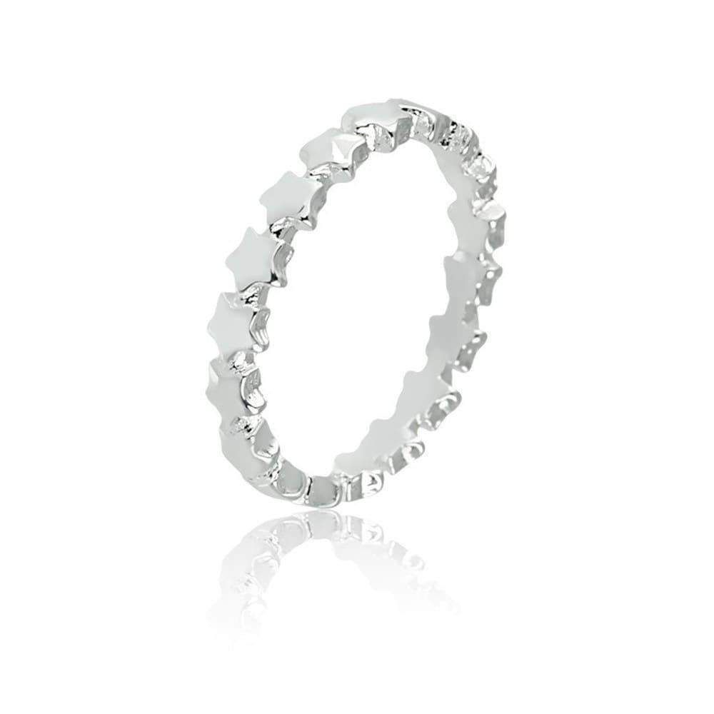 Anel Estrelas Mini Em Prata 925