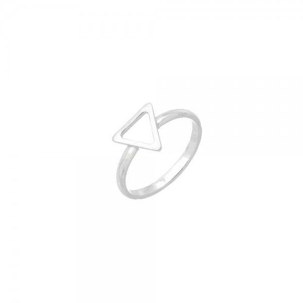 Anel Falange Triângulo Em Prata 925