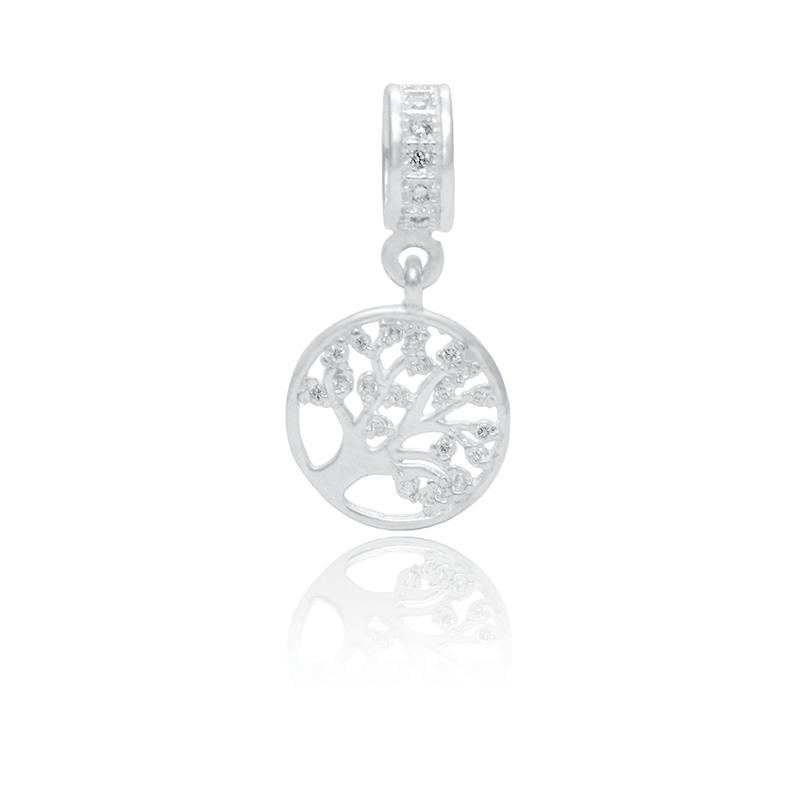 Berloque Arvore da Vida Com Zircônias Em Prata 925
