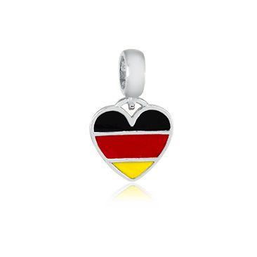 Berloque Bandeira da Alemanha Em Prata 925