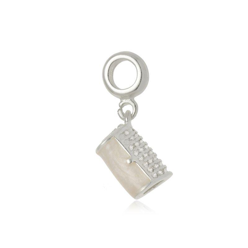 Berloque Bolsa Clutch Em Prata 925
