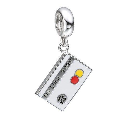 Berloque Cartão De Crédito Em Prata 925