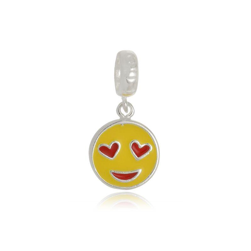 Berloque Emoji Apaixonado Em Prata 925