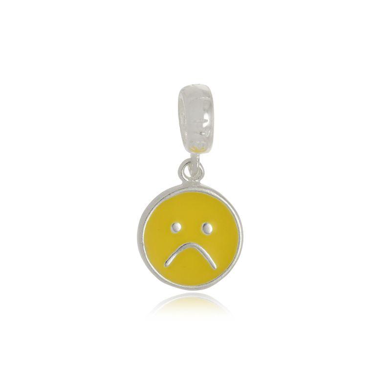 Berloque Emoji Chateado Em Prata 925