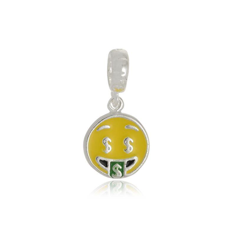 Berloque Emoji Dinheiro Em Prata 925