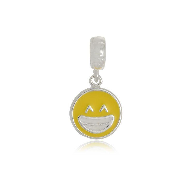 Berloque Emoji Sorridente Em Prata 925