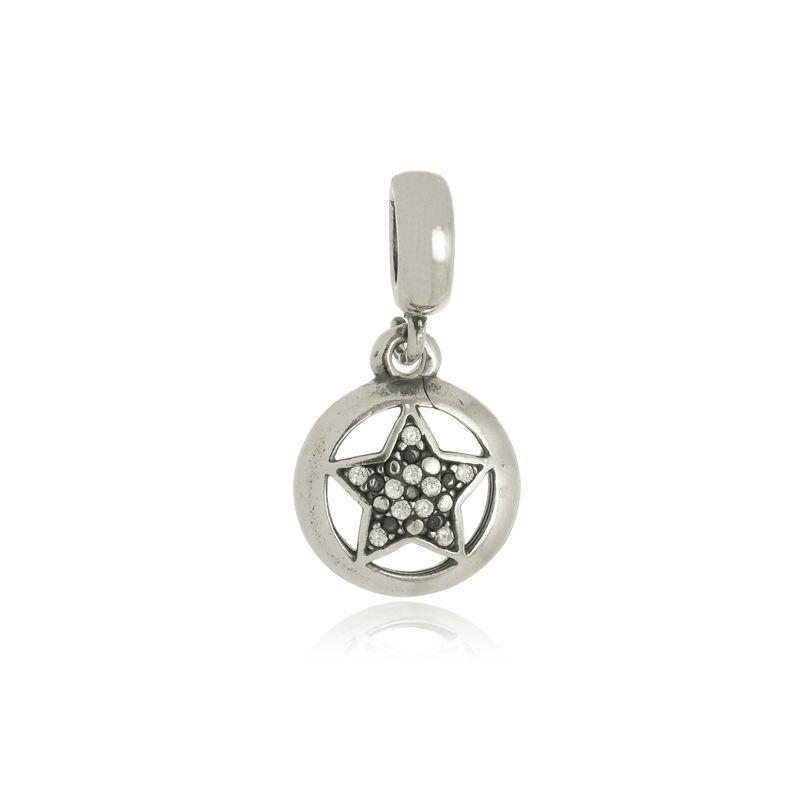 Berloque Estrela Em Prata 925
