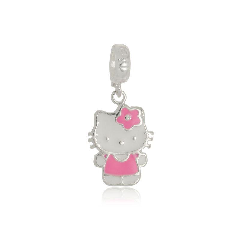 Berloque Hello Kitty Em Prata 925