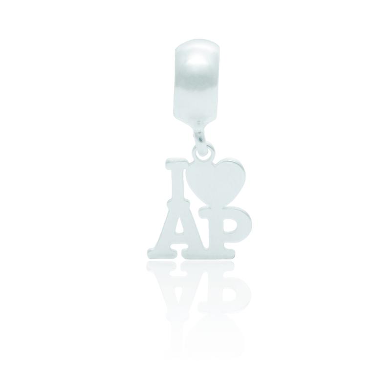 Berloque I Love Amapá Desenhado a Laser Em Prata 925