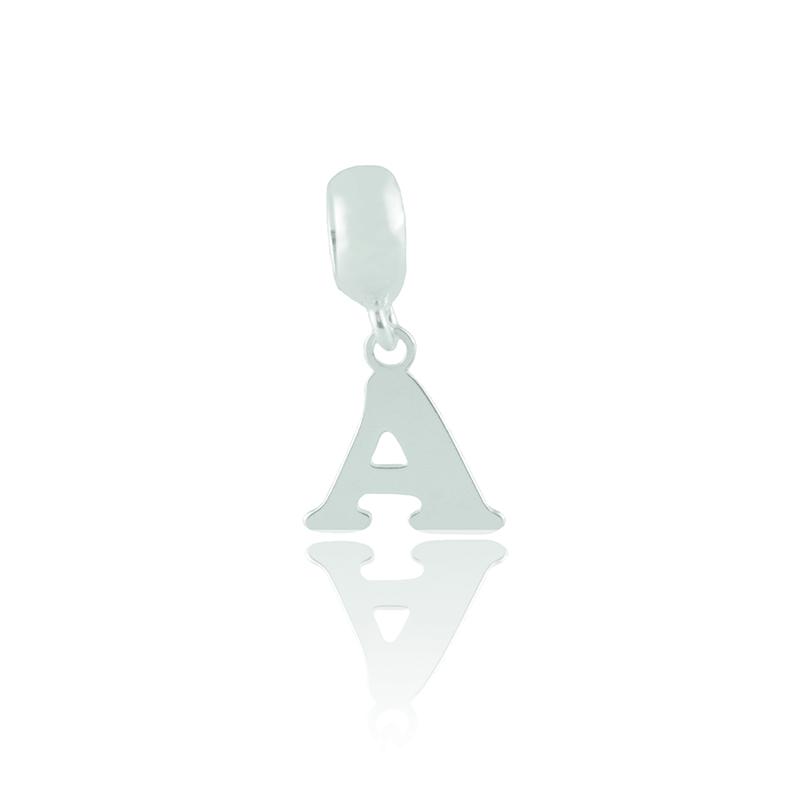 Berloque Letra A Em Prata 925
