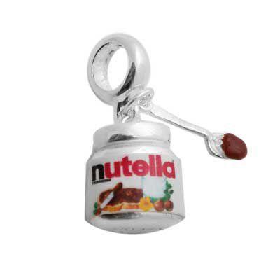 Berloque Nutella Em Prata 925