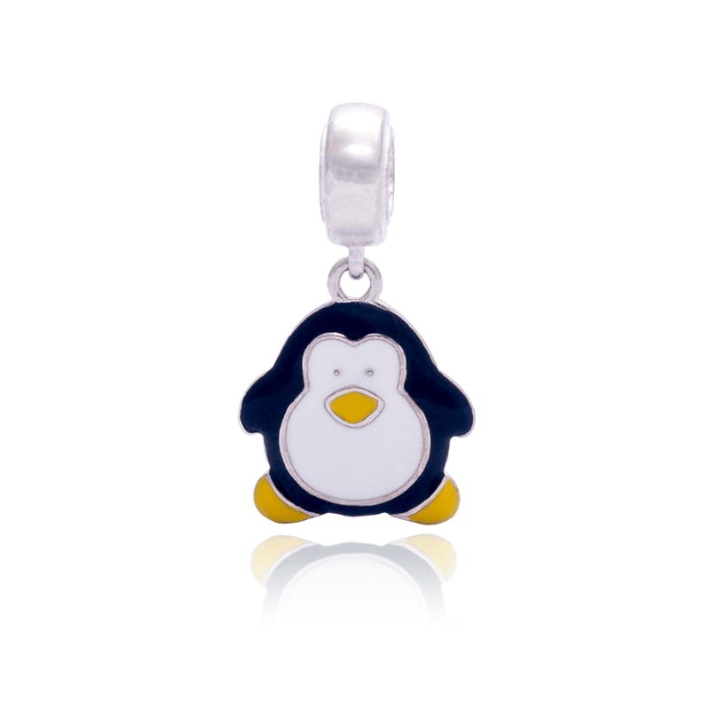 Berloque Pinguim Em Prata 925