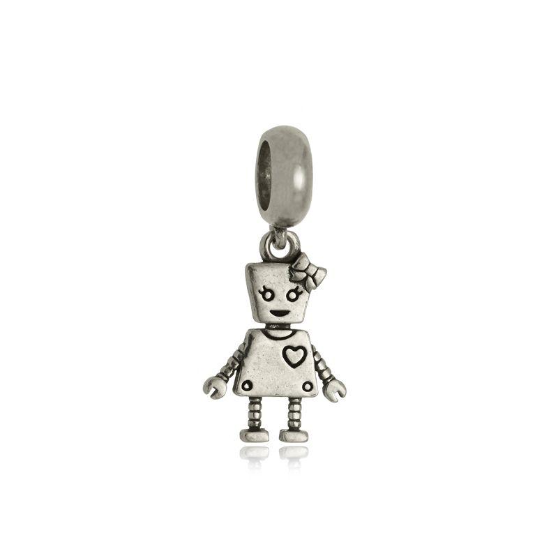 Berloque Robozinha Em Prata 925