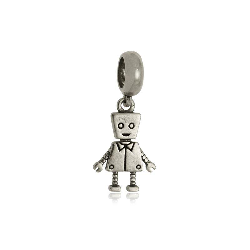 Berloque Robozinho Em Prata 925