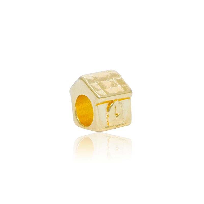 Berloque Separador Casinha Dourada