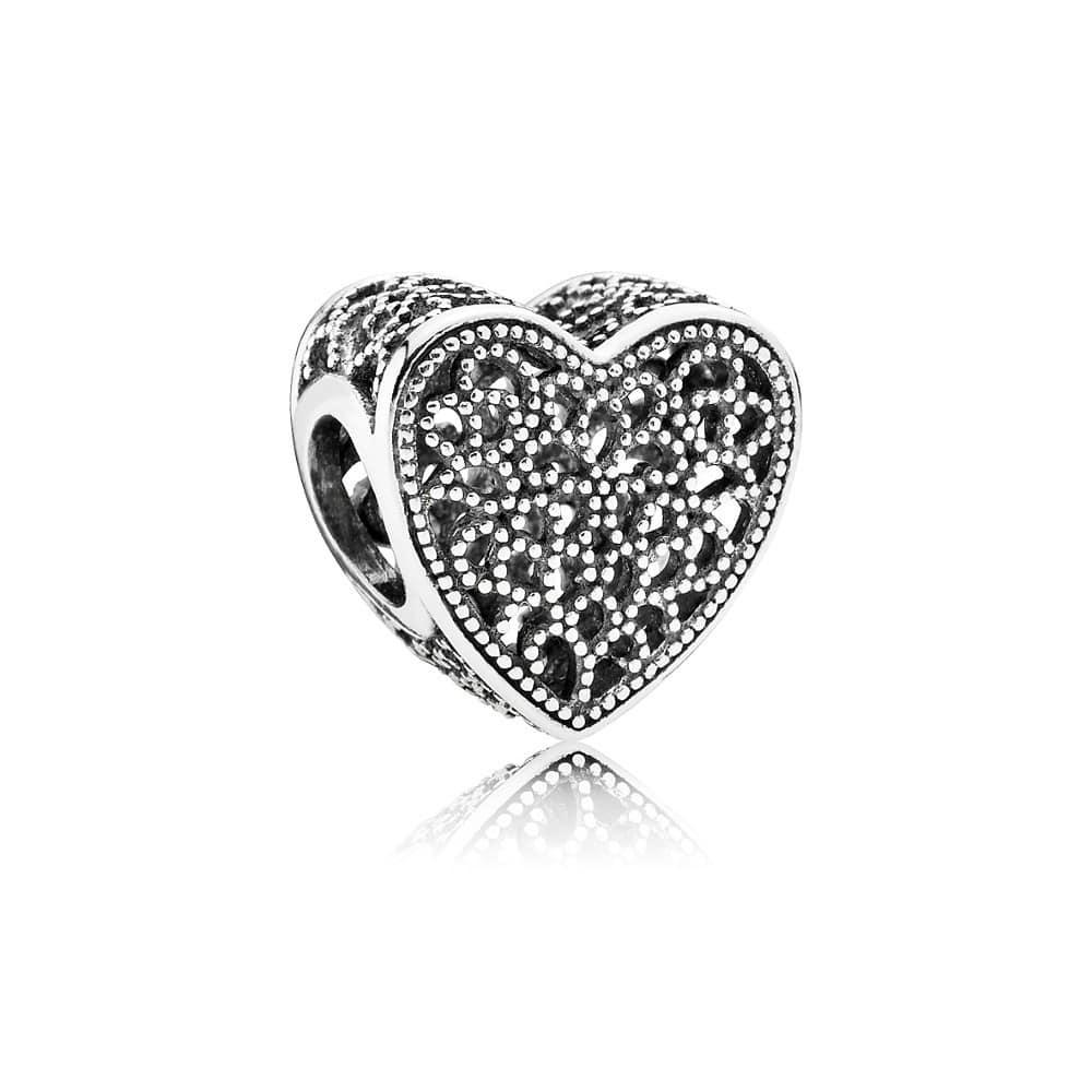 Berloque Separador Coração Bali Em Prata 925