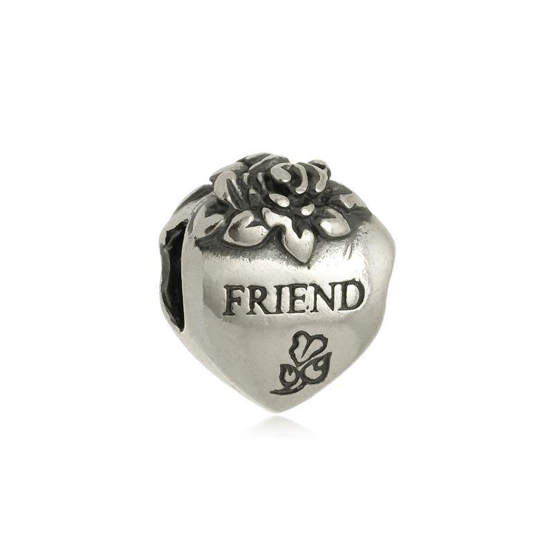 Berloque Separador Coração Friend Em Prata 925