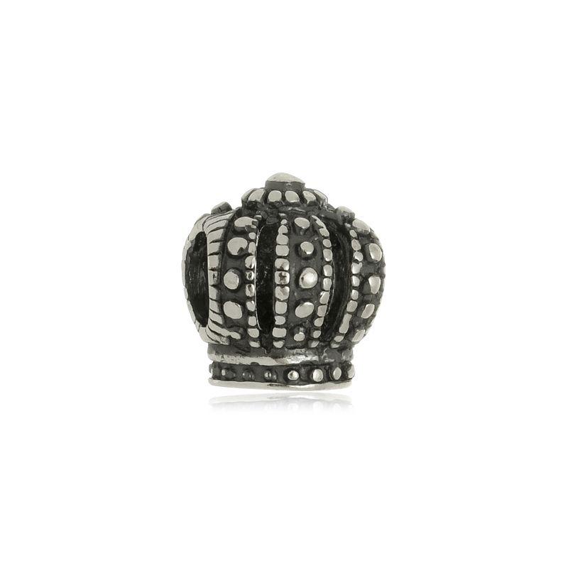 Berloque Separador Coroa Em Prata 925