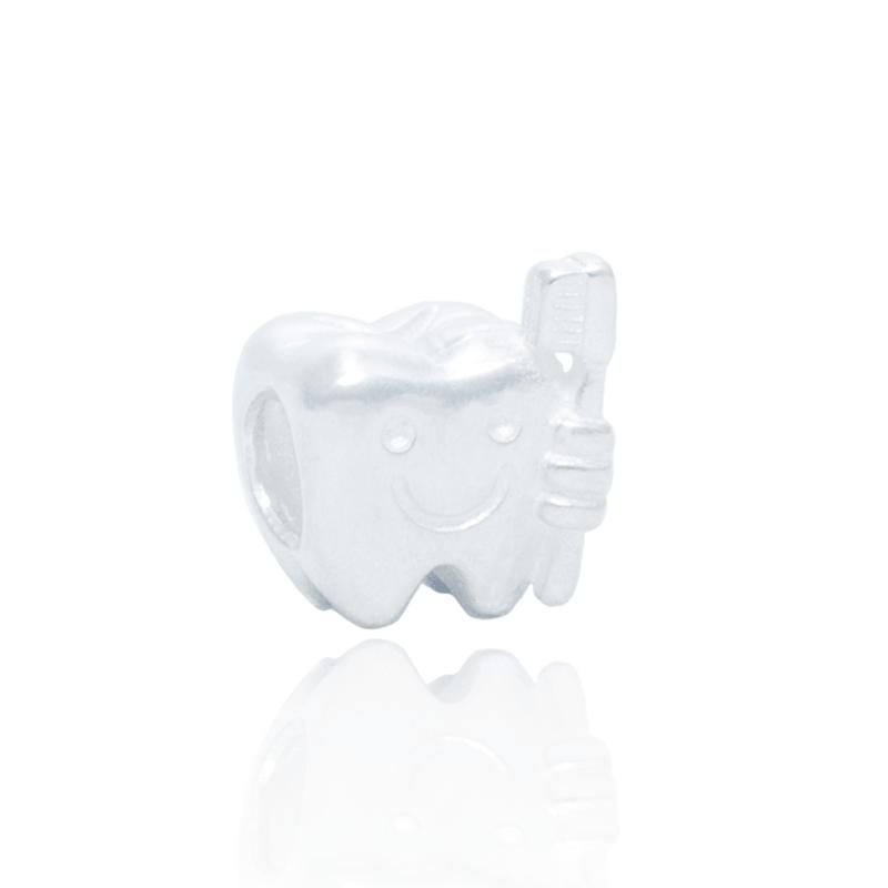 Berloque Separador Dentinho Em Prata 925