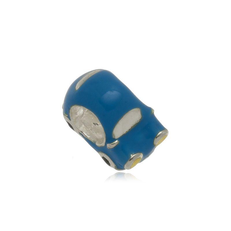 Berloque Separador Fusca Azul Em Prata 925