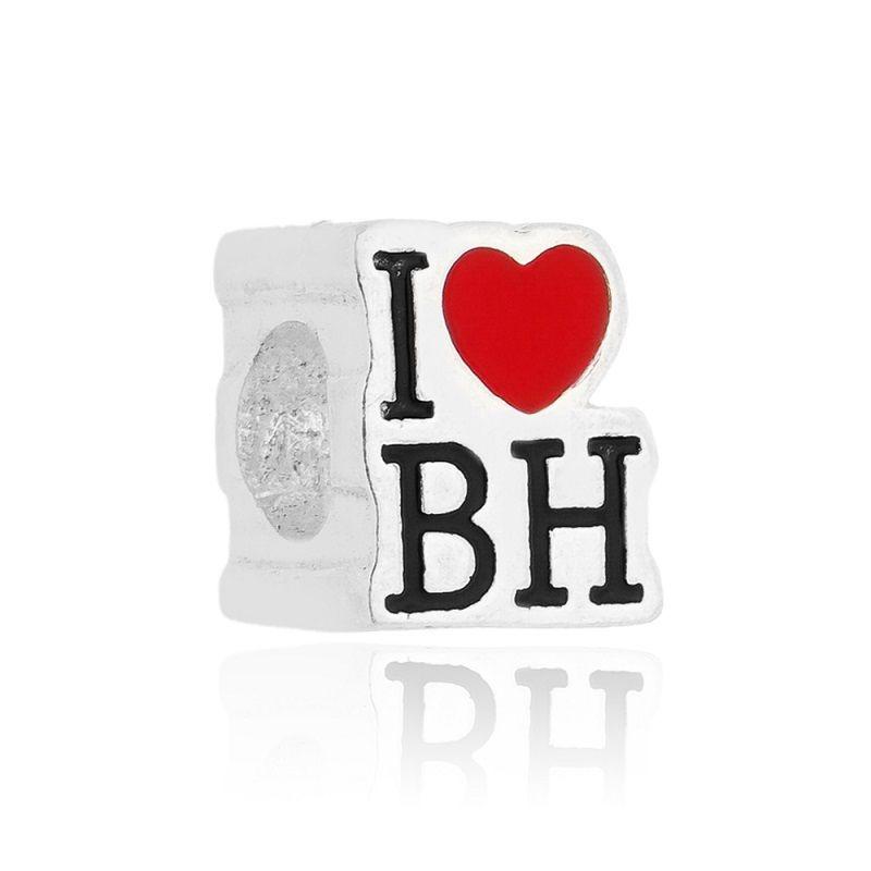 Berloque Separador I Love BH Em Prata 925