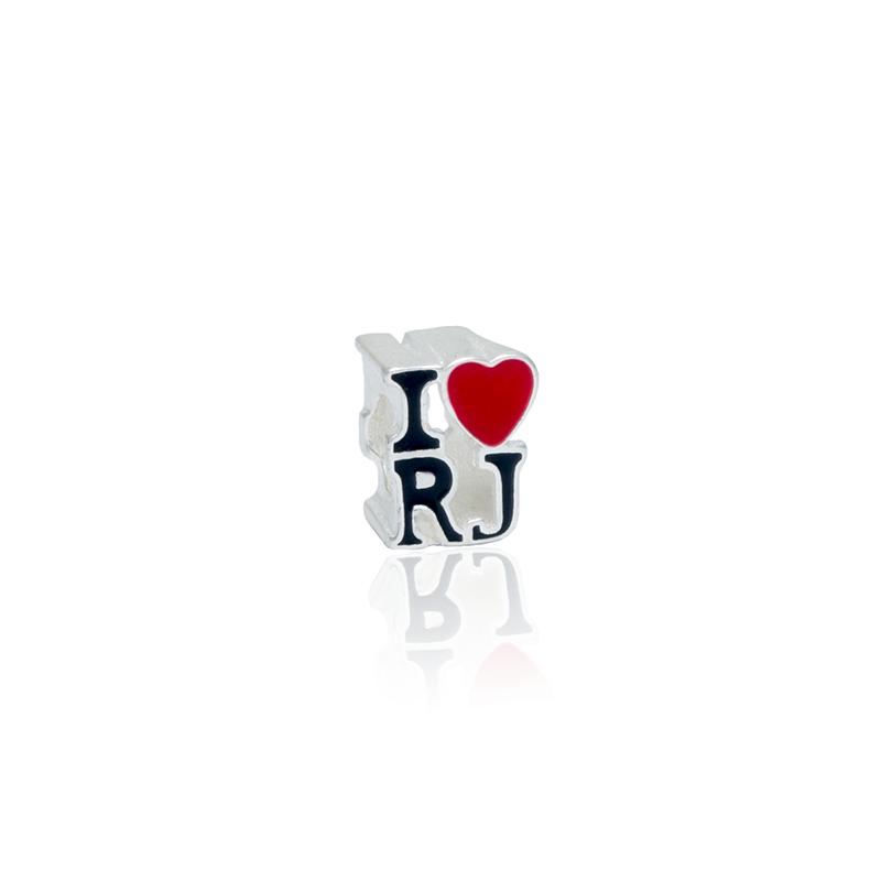 Berloque Separador I Love RJ Em Prata 925