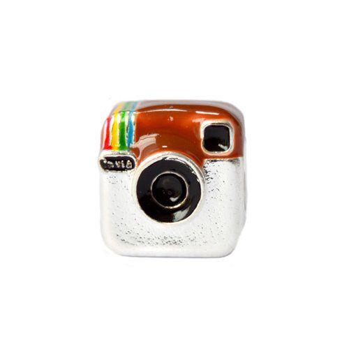 Berloque Separador Ícone Do Instagram Em Prata 925
