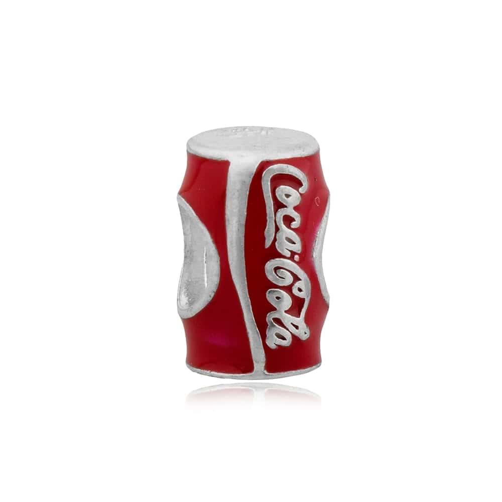 Berloque Separador Lata De Coca-Cola Em Prata 925