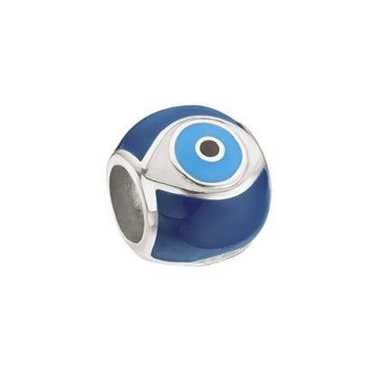 Berloque Separador Olho Grego Em Prata 925