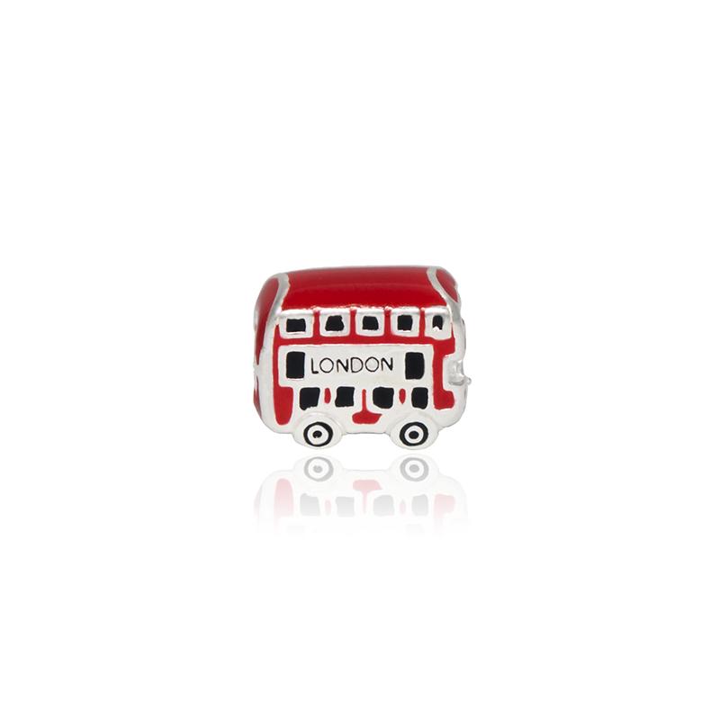 Berloque Separador Ônibus Londres Em Prata 925