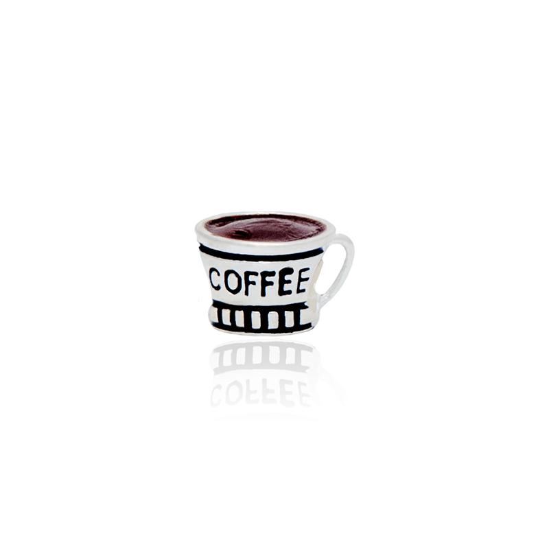 Berloque Separador Xícara Coffee II Em Prata 925