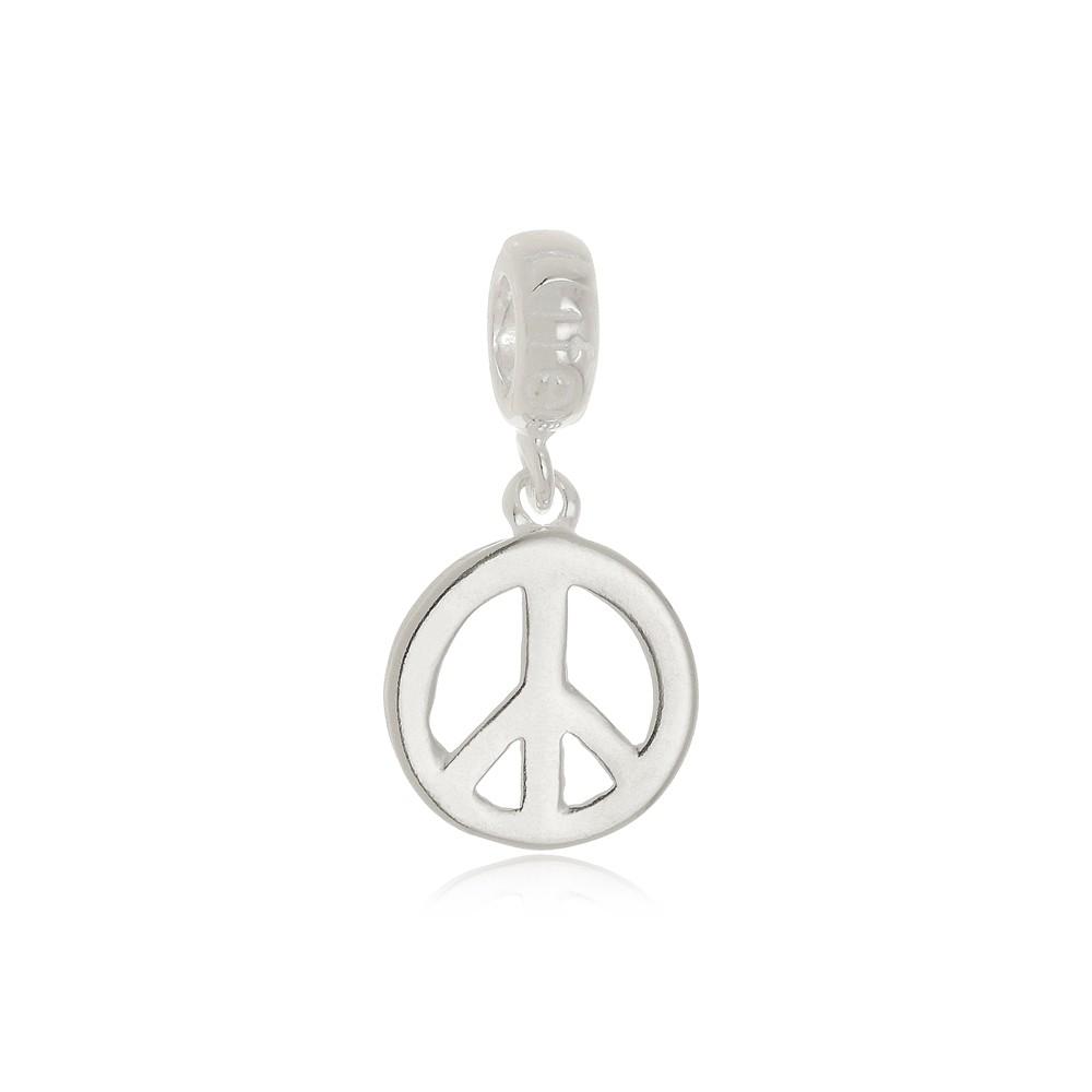 Berloque Símbolo da Paz Em Prata 925