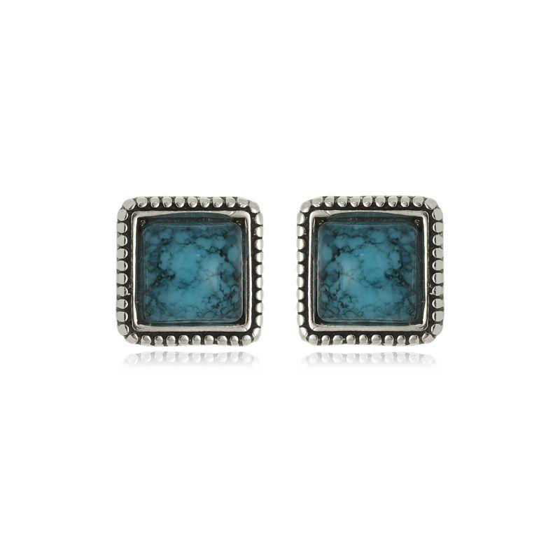 Brinco Bia Pedra Azul Em Prata 925