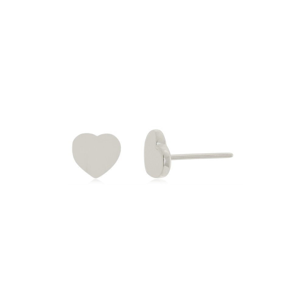 Brinco Coração P Em Prata 925