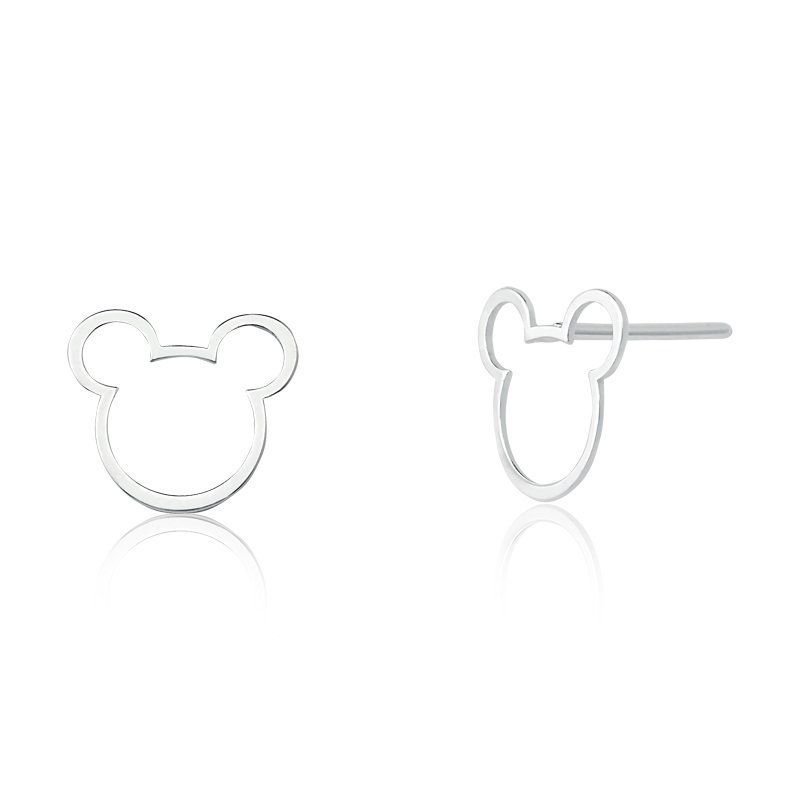 Brinco Mickey 1,1cm Em Prata 925