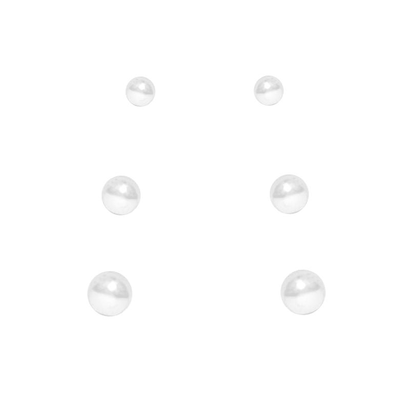 Conjunto Brinco De Bolinhas Em Prata 925