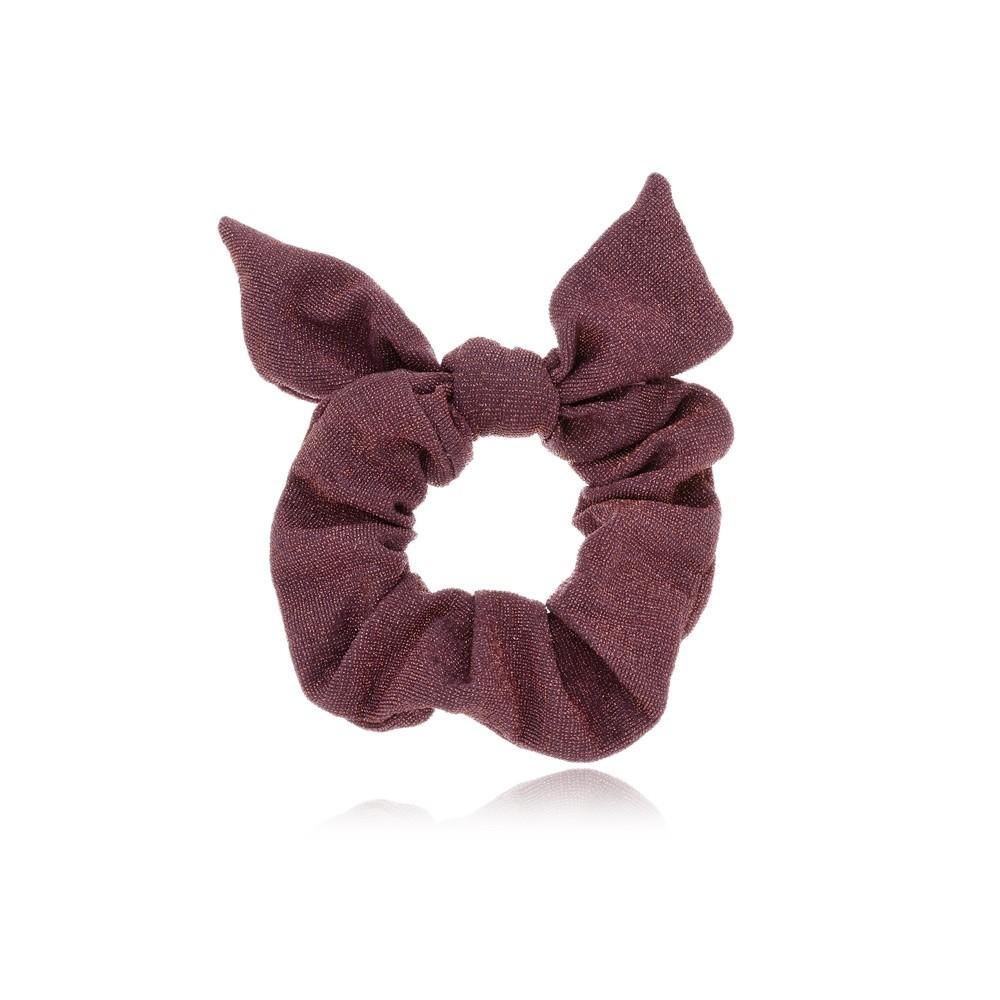 Elástico de Cabelo Scrunchie Rosa Brilhante