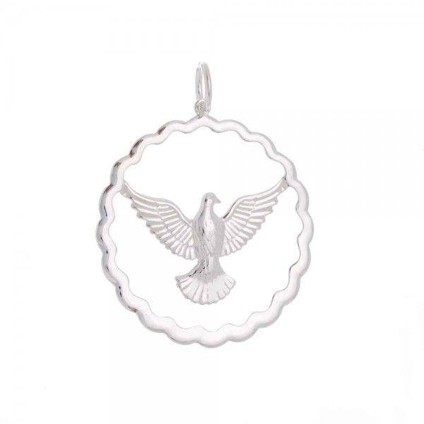 Pingente Divino Espírito Santo Em Prata 925