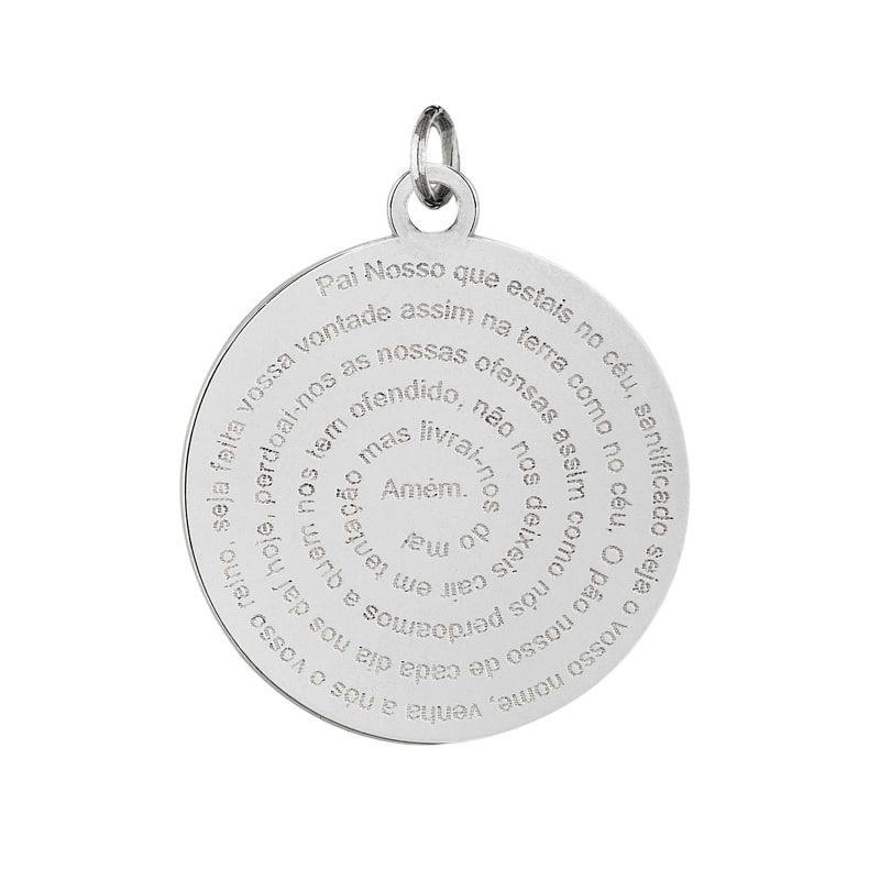 Pingente Mandala Pai Nosso Em Prata 925