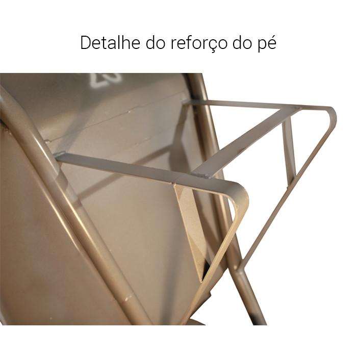 Carrinho de Mão Reforçado F-16 |65L| Chapa 16 - 1,50mm