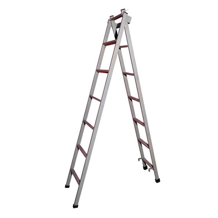 Escada extensiva 3 posições com 13 degraus de aço metalon