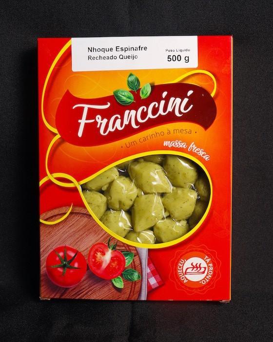 Nhoque de Espinafre Recheado  - Franccini Massas